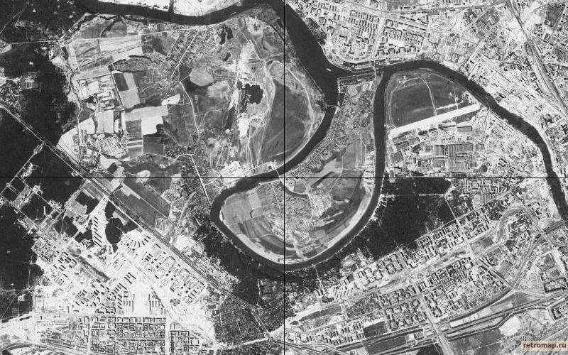 Американский спутниковый снимок 1961-1964 г