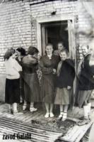 Пос. Главмосстроя, 1957-58 г. У общежития, зап. выход