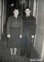 Пос. Главмосстроя, 1959-60 г. д.5 - общежитие. Усовы Екатерина Петровна и Егор Петрович
