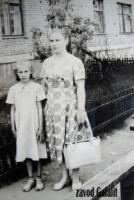 Пос. Главмосстроя, 1961 г. Усова Антонина Васильевна с племянницей Москвиной Ниной